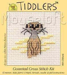 Mouseloft Meerkat Tiddlers cross stitch kit